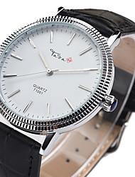 cheap -Women's Fashion Watch Quartz Analog Black Brown / Leather