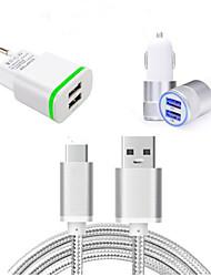 Недорогие -Автомобильное зарядное устройство / Зарядное устройство для дома Зарядное устройство USB Евро стандарт Зарядное устройство и аксессуары / Несколько портов 2 USB порта 3.1 A для