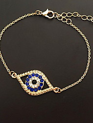 cheap -Women's Chain Bracelet Evil Eye Natural European Alloy Bracelet Jewelry Blue Evil Eye For Gift