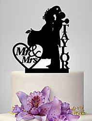 cheap -Cake Topper Classic Theme Classic Couple Acrylic Wedding Anniversary with 1 OPP