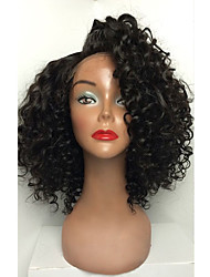 cheap -Human Hair Glueless Full Lace Full Lace Wig style Brazilian Hair Curly Wig 130% Density with Baby Hair Natural Hairline African American Wig 100% Hand Tied Women's Short Medium Length Long Human Hair