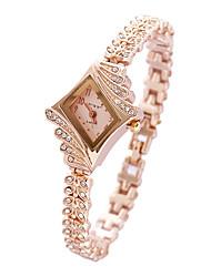 cheap -Women's Fashion Watch Bracelet Watch Quartz Pink Analog Charm - Gold White