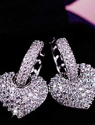 cheap -Women's Cubic Zirconia tiny diamond Stud Earrings Ladies Stylish Cubic Zirconia Earrings Jewelry White For Wedding Party Special Occasion Party / Evening 1 set
