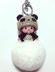 cheap -Balls Keychain Bear Panda Key Chain Diamond Lovely Crystal 1 pcs Cartoon Kid's Boys' Toy Gift
