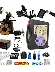 cheap -BaseKey Professional Tattoo Kit Tattoo Machine - 3 pcs Tattoo Machines LED power supply 2 rotary machine liner & shader / 1 alloy machine liner & shader / Case Included