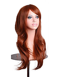 cheap -70cm orange brown wavy fashion women hair synthetic lolita costume party cosplay full wig 4 colors Halloween