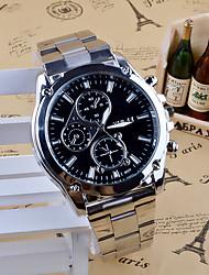 cheap -Men's Wrist Watch Quartz Stainless Steel Silver Analog Charm Casual Fashion Dress Watch - Black White