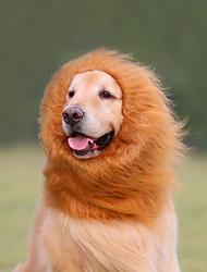 cheap -Cat Dog Costume Hoodie Lion Wig Lion Dog Clothes Black Light Brown Dark Brown Costume Large Dog Husky Labrador Alaskan Malamute Faux Fur Animal Cosplay Lion Funny S M L