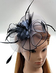 cheap -Tulle / Feather / Net Fascinators / Hats / Headwear with Floral 1pc Wedding / Special Occasion / Horse Race Headpiece