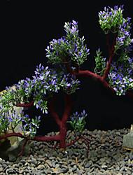 Недорогие -Аквариум Оформление аквариума Водное растение Rock Outcrop Зеленый / Фиолетовый Искусственная пластик 16*19 cm