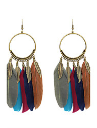 cheap -Women's Drop Earrings Ladies Stylish Native American Feather Earrings Jewelry White / Black / Royal Blue For Wedding Party Special Occasion Party / Evening Daily Casual 1 set