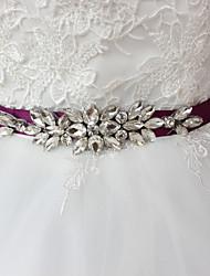 cheap -Satin Wedding / Party / Evening / Dailywear Sash With Rhinestone / Beading Sashes