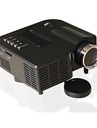 Недорогие -uc28 универсальный 400 люмен hd 400 люмен мультимедийный светодиодный домашний проектор поддержка 60-дюймовый большой проекционный экран USB / SD / AV вход мини-развлекательный проектор uc28 +
