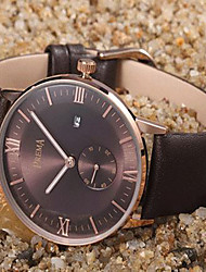 cheap -Men's Fashion Watch Quartz Casual Analog Brown