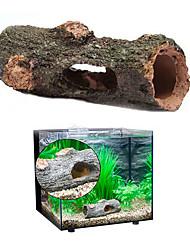 cheap -Arrival Aquarium Ornament Hollow Hole Log Tree Tunnel Cave Fish Tank Decoration