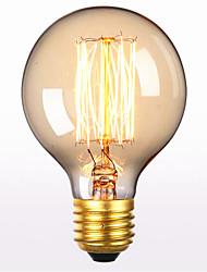 cheap -1pc 60 W E26 / E27 G80 Warm White 2300 k Retro / Decorative Incandescent Vintage Edison Light Bulb 220-240 V