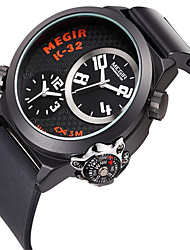 cheap -Men's Fashion Watch Quartz Silicone Black Cool Analog Casual - Black