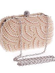 abordables -Femme Imitation Perle Plastique Pochette Couleur Pleine Champagne / Blanche / Noir