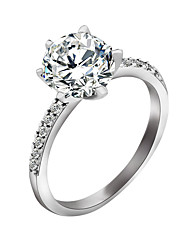 cheap -Ring Diamond Solitaire Silver Zircon Alloy Ladies Stylish 6 7 8 / Women's