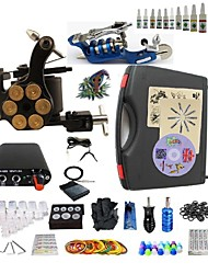cheap -BaseKey Tattoo Machine Starter Kit, 2 pcs Tattoo Machines with 10 x 5 ml tattoo inks - 1 rotary machine liner & shader, 1 alloy machine