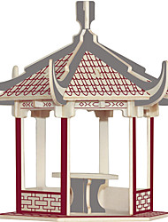 cheap -Wooden Puzzle Famous buildings Chinese Architecture House Professional Level Wood 1 pcs Toy Gift