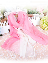 cheap -Women's Party Chiffon Rectangle Scarf - Color Block / Cute
