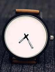 cheap -Men's Casual Watch Fashion Watch Wrist Watch Quartz Leather Black / Brown Creative Cool Analog Minimalist - Black Brown