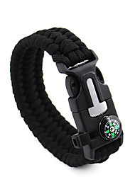cheap -Paracord Bracelet Survival Bracelet Fire Starter Tactical Emergency Multi Function Nylon Camping / Hiking Fishing Climbing Outdoor Travel Green+Lime
