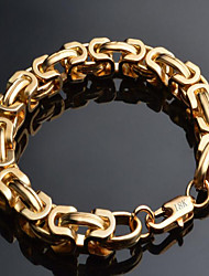 cheap -Men's Chain Bracelet Twisted Box Chain Mariner Chain Dainty Fashion Hip Hop 18K Gold Plated Bracelet Jewelry Black / Gold / Silver For Christmas Gifts Special Occasion Birthday Gift
