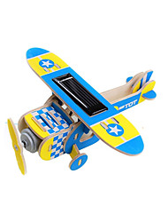 cheap -Solar Powered Toy Wooden Model Plane / Aircraft Solar Powered Creative Novelty Plastic Metal Kid's Adults' Boys' Girls' Toy Gift