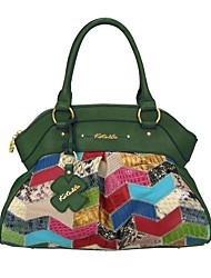 cheap -Women's Cowhide Tote Geometric Hunter Green / Emerald Green