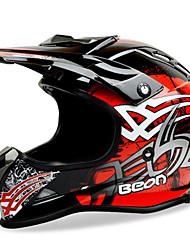 cheap -BEON Full Face Off-Road Motorcycle Helmet ABS Speed Motorsport Black/Red Color Helmet