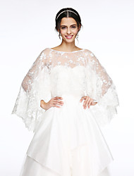 cheap -Sleeveless Lace Wedding / Party Evening Wedding  Wraps With Appliques Capelets