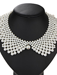 cheap -Pearl Collar Necklace Ladies Vintage Euramerican Pearl Imitation Pearl Alloy White Necklace Jewelry 1pc For Wedding Party Birthday Daily Masquerade Engagement Party