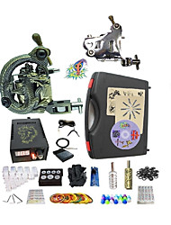 cheap -BaseKey Professional Tattoo Kit Tattoo Machine - 2 pcs Tattoo Machines LED power supply 1 steel machine liner & shader / 1 alloy machine liner & shader / Case Included