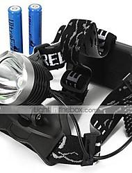 Недорогие -U'King Налобные фонари Фары для велосипеда 2000 lm Светодиодная лампа LED излучатели 3 Режим освещения с батарейками / Алюминиевый сплав