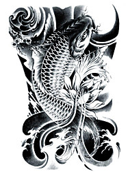 cheap -lc2814-21-15cm-3d-large-big-tatoo-sticker-sketch-black-golden-fish-drawing-designs-cool-temporary-tattoo-stickers