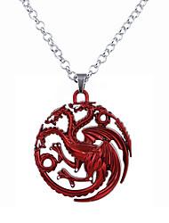cheap -Men's Women's Pendant Necklace Logo Unique Design Dangling Satanic Alloy Bronze Red Silver Necklace Jewelry For