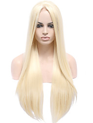 cheap -Synthetic Wig Straight Straight Lace Front Wig Blonde Long Light Blonde Synthetic Hair Women's Natural Hairline Middle Part Blonde