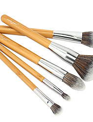cheap -Professional Makeup Brushes Makeup Brush Set 5 Portable Travel Eco-friendly Professional Full Coverage Synthetic Hypoallergenic Limits Bacteria Synthetic Hair / Artificial Fibre Brush Wood for Cream