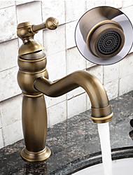 cheap -Bathroom Sink Faucet - Widespread Antique Copper Centerset Single Handle One HoleBath Taps / Brass