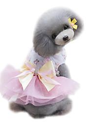 Недорогие -Собака Платья смокинг Одежда для собак Светло-синий Зеленый Розовый Костюм Шифон Принцесса Свадьба Мода XS S M L XL