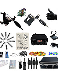 cheap -BaseKey Professional Tattoo Kit Tattoo Machine - 2 pcs Tattoo Machines, Professional Alloy 20 W LED power supply 1 rotary machine liner & shader / 1 alloy machine liner & shader / Case Included