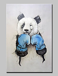 cheap -Hand Painted Modern Abstract Boxing Bear Animal Oil Painting On Canvas Wall Art Pictures For Home Decoration Ready To Hang