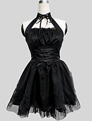 cheap -Princess Gothic Lolita Punk Dress Women's Girls' Chiffon Satin Japanese Cosplay Costumes Solid Colored Sleeveless Long Length / Gothic Lolita Dress