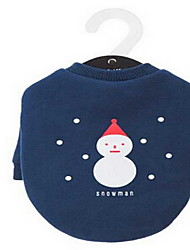 cheap -Dog Coat Winter Dog Clothes Green Dark Blue Christmas Costume Cotton Solid Colored Sports Cute XS S M XL XXL