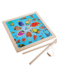 cheap -Jigsaw Puzzle Fishing Toy Creative Novelty Duck Fish Wooden Kid's Boys' Toy Gift