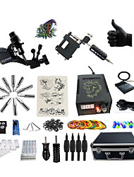 cheap -BaseKey Tattoo Machine Professional Tattoo Kit - 2 pcs Tattoo Machines LED power supply Case Included 2 rotary machine liner & shader
