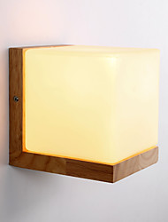 cheap -Wood Wall Sconces/ Glass Shade /110V OR 220V /Country Novelty /Without Bulb