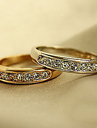cheap -Ring Cubic Zirconia Gold Silver Zircon Alloy Friendship 6